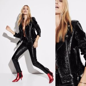 Anine Bing Jett Black Leather Jacket